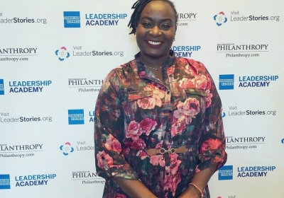 Njeri Muturi at the American Express Leadership Academy Global Alumni Summit in Washington, DC in April